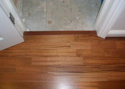 Merbau wooden flooring in doorway