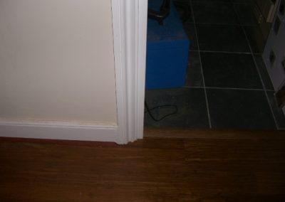 Merbau wooden flooring in hallway