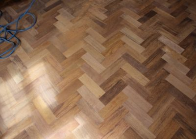 Merbau wooden flooring shining