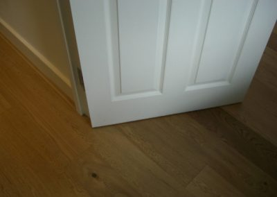 Oak flooring in hallway