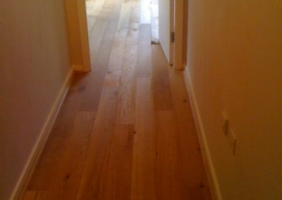Oak flooring on staircase