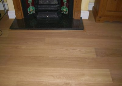 Oak flooring in living room