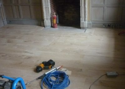 Oak wooden flooring install