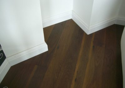Oak wooden flooring in hallway