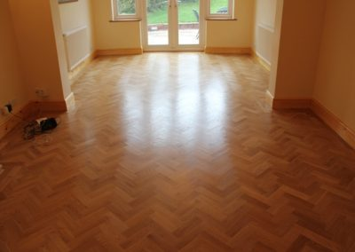 Oak wooden flooring in living room
