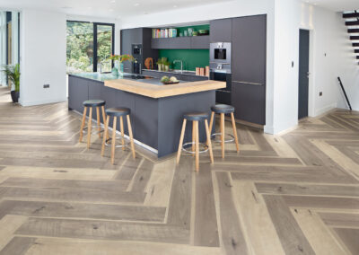 Weathered Hickory Kitchen Wooden Floor