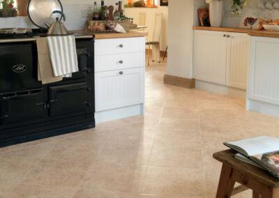 Piazza Limestone Kitchen Wooden Floor