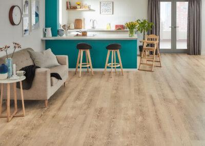 Washed Swiss Pine Kitchen Wooden Floor