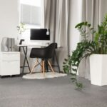 Normandy Saxony Carpet by Furlong Flooring: 437 - Silver for your home office