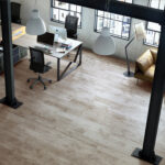 Halti laminate flooring by Finsa for the home office